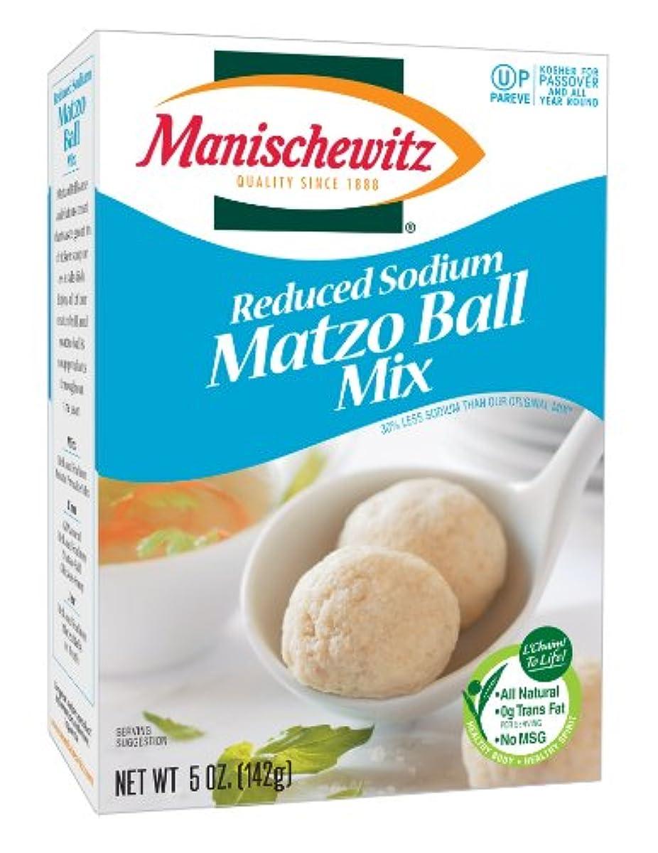 MANISCHEWITZ Reduced Sodium Matzo Ball Mix, 5-Ounce Boxes (Pack of 6)