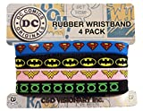 Licenses Products Dc Comics Originals 4 Mini Rubber Wristband Set