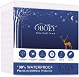 OBOEY Queen Size Mattress Protector 100% Waterproof Cover Breathable,Cotton Terry Surface Deep Pocket