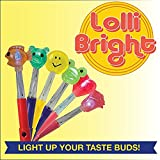 Light-Up Lollipop - Lollibright - Fun and Safe - Made from Natural Sugar - Six Flavors/ Characters - Fun And Safe - No MSG - Gluten Free - Added Vitamin C - Perfect for Birthday Parties