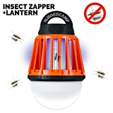 Rugged Camp Camping Lantern and Bug Zapper - Rechargeable LED Lantern and Flashlight- Lightweight Camping Gear and Accessories for The Outdoors and Emergencies