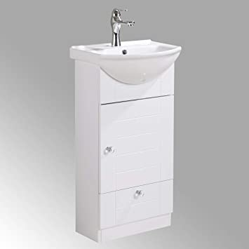 Small Bathroom Vanity Sink Cabinet Vitreous China Sink Comes With Faucet And Drain Assembly Required Install Hardware Included Renovators Supply Manufacturing Amazon Com