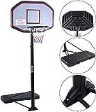 Movement God Pro Court Height-Adjustable Portable Basketball Hoop System with 43' Backboard (Black Backboard)