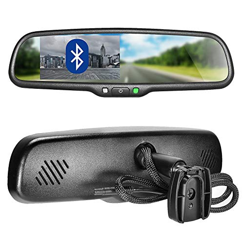 Master Tailgaters OEM Bluetooth Rear View Mirror with 4.3' Auto Adjusting Brightness LCD - Universal Fit, Hands Free Calling w/Built in Speaker & Microphone