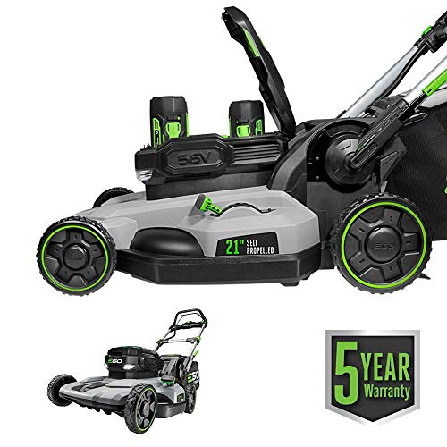 EGO-Power-LM2142SP-21-Inch-56-Volt-Lithium-Ion-Cordless-Electric-Dual-Port-Walk-Behind-Self-Propelled-Lawn-Mower-with-Two-50-Ah-Batteries-Charger-Included