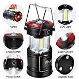 Wsky Led Camping Lantern - Best Rechargeable LED Flashlight Lantern - High Lumen, Rechargeable, 4 Modes, Water Resistant, Handheld Light - Best Camping, Outdoor, Emergency(AA Batteries Not Included)