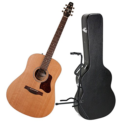 Seagull S6 'The Original' Acoustic Guitar w/Dreadnought Hardshell Case and Guitar Stand
