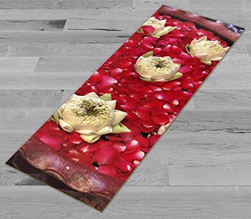 Pimp My Yoga Mat - Floating Lotus 2 - Original Artwork 72x24 in Yoga Mat / Pilates Mat, 1/8 in Thick