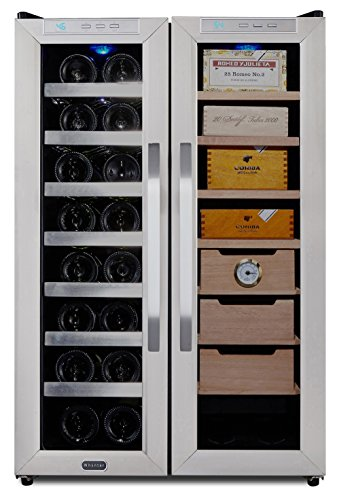 Whynter CWC-351DD Freestanding Wine Cooler and Cigar Humidor Center