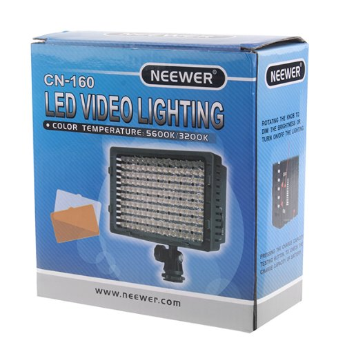 NEEWER 160 LED CN-160 Dimmable Ultra High Power Panel Digital Camera / Camcorder Video Light