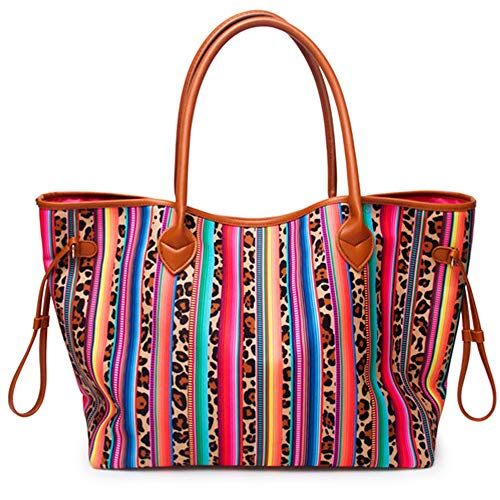 Oversized-Tote-Bag-Red-Striped-Cheetah-Canvas-Handbag-for-Women-with-Inner-Pocket-Weekend-Beach-Tote-Bags-Shopping-Picnic-Working-Dating-Handbag-Women-Gifts