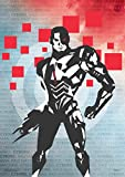 Justice League Movie Cyborg Words MightyPrint Wall Art DC Comics Premium Print