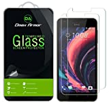 [2-Pack] Dmax Armor for HTC Desire 10 Lifestyle Screen Protector, [Tempered Glass] 0.3mm 9H Hardness, Anti-Scratch, Anti-Fingerprint, Bubble Free, Ultra-Clear