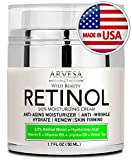 NEW 2019 Retinol Moisturizer Cream for Face and Eye Area - Made in USA - with Hyaluronic Acid - Active Retinol 2.5% - Anti Aging Face Cream to Reduce Wrinkles & Fine Lines - Best Day and Night