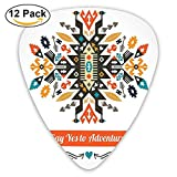 Newfood Ss Modern Design With Ethnic Details Yes To Adventure Quoted Guitar Picks 12/Pack Set