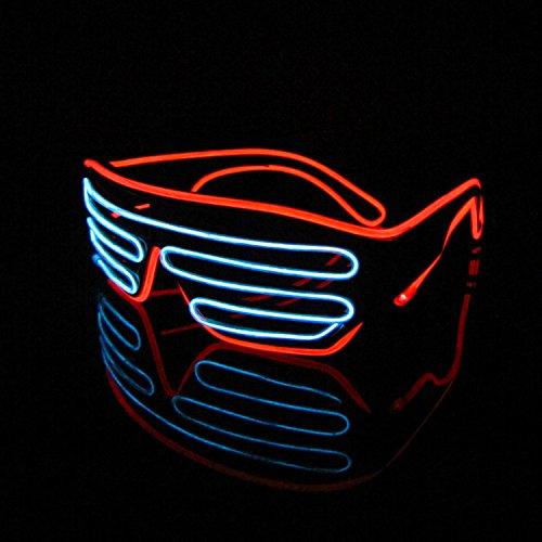 LED Leuchtbrille Gadget Partys Rave Amazon