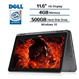 2018 Dell Inspiron 11.6' 2-in-1 Convertible HD Touchscreen Laptop - Intel Quad-Core Pentium N3710 1.6GHz, 4GB RAM, 500GB HDD, MaxxAudio, 802.11bgn, Webcam, Bluetooth, HDMI, Win 10