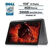 2018 Dell Inspiron 11.6' 2-in-1 Convertible HD Touchscreen Laptop - Intel Quad-Core Pentium N3710 1.6GHz, 4GB RAM, 500GB HDD, MaxxAudio, 802.11bgn, Webcam, Bluetooth, HDMI, Win 10