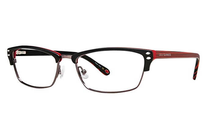 845a4dc0d6 Com Lulu Guinness L771 Womens Eyeglass Frames Black Clothing