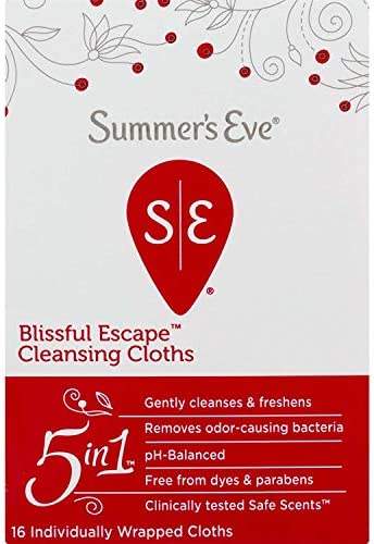 Summer's Eve Cleansing Cloths, Blissful Escape, 16 Count 8