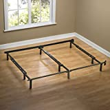 Zinus Compack Adjustable Steel Bed Frame Box Spring & Mattress Set, Fits Full to King