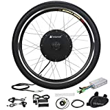 Voilamart Electric Bicycle Wheel Kit 26' Front Wheel 48V 1000W E-Bike Conversion Kit, Cycling Hub Motor with Intelligent Controller and PAS System for Road Bike
