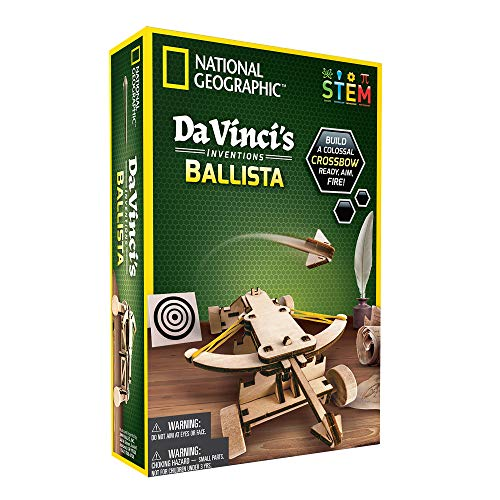 NATIONAL-GEOGRAPHIC-Construction-Model-Kit-Build-Your-Own-Wooden-Model-of-The-Original-Ballista-Learn-About-Da-Vincis-Improved-Designs-Craft-Kits-are-a-for-Girls-and-Boys