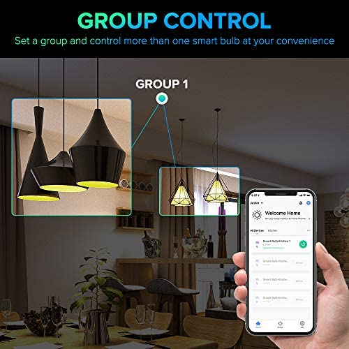 Smart Light Bulbs, 3Stone A21 10W Smart LED Light Bulb, 2700K-6500K RGBCW (100W Equivalent) E26 WiFi App Voice Controlled 2.4G(Not 5G) Multicolor Bulb, Works Perfect with Alexa, Google Assistant 15