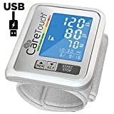 Wrist Blood Pressure Monitor by Care Touch with USB Charging - Slim Digital BP Machine with back-light,...