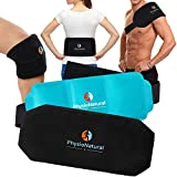 Multipurpose, Reusable Hot & Cold Compress Gel Pack with Secure Wrap for Instant Relief of Back Pain, Sore Shoulders, Swollen Knee - Ideal for Injuries, Arthritis, Sprains, Aches, and Surgery Recovery