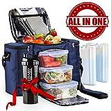 Meal Prep Lunch Bag / Box For Men, Women + 3 Large...