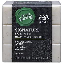 Irish Spring Signature Exfoliating Bar Soap, 6oz, 3 Count  Image