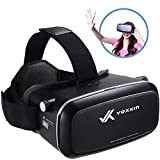 Virtual Reality Headset 3D VR Glasses by Voxkin – High Definition Optical Lens, Fully Adjustable Strap, Focal and Object Distance – Perfect VR Headset for iPhone, Samsung and any Phones 3.5' to 6'