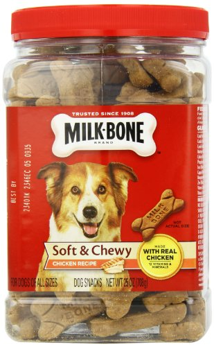 Milk-Bone Soft and Chewy Chicken Bones Treats For Dogs (25 oz) 4