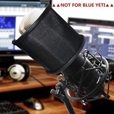 Pop-FilterPEMOTech-Upgraded-Three-Layers-Metal-Mesh-Foam-Etamine-Layer-Microphone-Pop-FilterMicrophone-Windscreen-CoverHandheld-Mic-Shield-Mask-for-Vocal-RecordingYoutube-videosStreaming