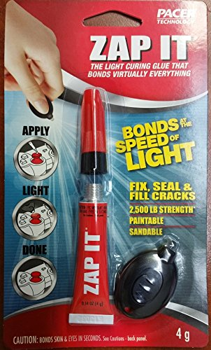 ZAP-IT The UV Light Curing Glue that Bonds Virtually Everything