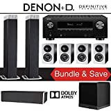 Definitive Technology BP9080x 7.1.2-Ch High Performance Dolby Atmos Home Theater System with Denon AVR-X3500H 7.2-Channel 4K Ultra HD Network A/V Receiver