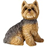 Sandicast Yorkshire Terrier Sculpture, Sitting, Small Size