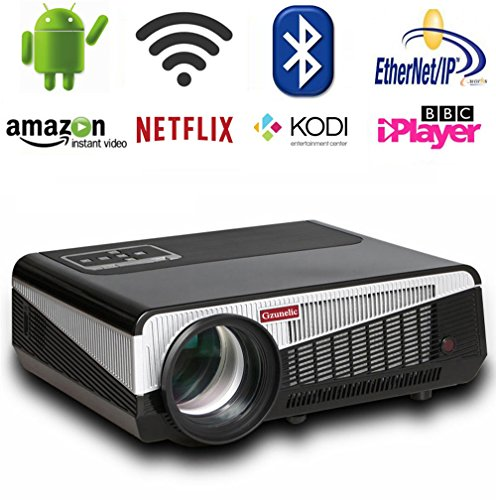Gzunelic 4500 lumens Android Wifi 1080p...