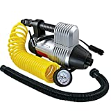 Q Industries Air Pump, Multipurpose 12 Volt Portable Inflator/deflator, by MasterFlow for Inflating Full Size Car Tires and Inflating/Deflating Air Mattresses and Inflatable's