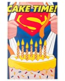 American Greetings Superman Cake Time Birthday Card for Boy with Pop-Up