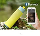 huoaoqiyegu - Portable Mini MP3 Speaker/Support USB/Wireless Bluetooth/32GB Micro SD TF/Custom Bass Radiator, Brief Design/for Shower, Room, Bike, Car