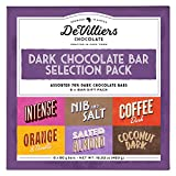 De Villiers Dark Chocolate Bar 70% cocoa - Vegan Dark Chocolate Free from Gluten, GMO's Trans fats and Palm Oil - Assorted Chocolate Gift Pack - 6 Gourmet Chocolate Bars from Africa - 16.9 Ounce