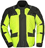 Tourmaster Transition Series 4 Men's Textile Motorcycle Touring Jacket (Hi-Viz/Black, X-Small)
