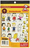 Eureka Back to School Peanuts Stickers for Kids and Teachers, 410 Stickers in 1 Sticker Book, 5.75'' x 9.38''