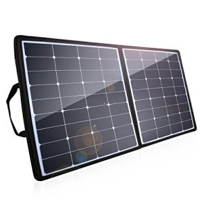 [High Effiency] 100W Solar Charger, Poweradd 18V 12V SUNPOWER Solar Panel Water / Shock / Dust Resistant Foldable Panel for Laptop, Macbook, iPhone, Samsung, Generator, ChargerCenter, UPS and More