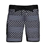 Zoot Sports Mens 9' Board Shorts, Black Checkers, Large