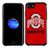 Prime Brands Group Textured Team Color Cell Phone Case for Apple iPhone 8/7/6S/6 - NCAA Licensed Ohio State University Buckeyes