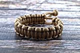 Mad Max Fury Road Tom Hardy Paracord Adjustable Survival Bracelet - TAN - Size 8.5'