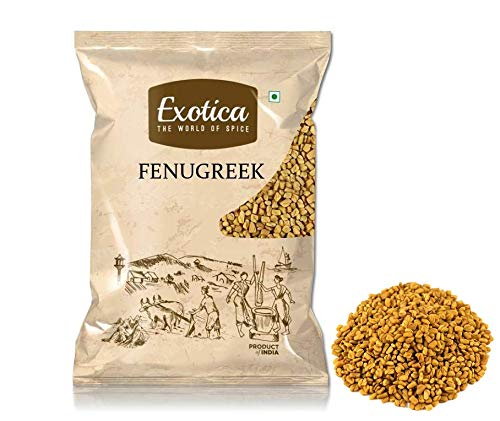 51926n%2BsWaL - Exotica Fresh / Natural Dried Fenugreek Seeds | Whole Methi Dana Seeds | Indian Spices & Masala (400 g)